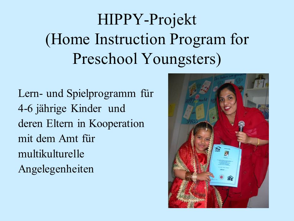 HIPPY-Projekt (Home Instruction Program for Preschool Youngsters)