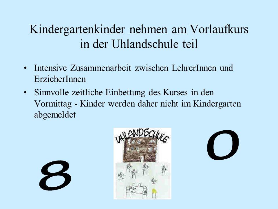 Kindergartenkinder nehmen am Vorlaufkurs in der Uhlandschule teil