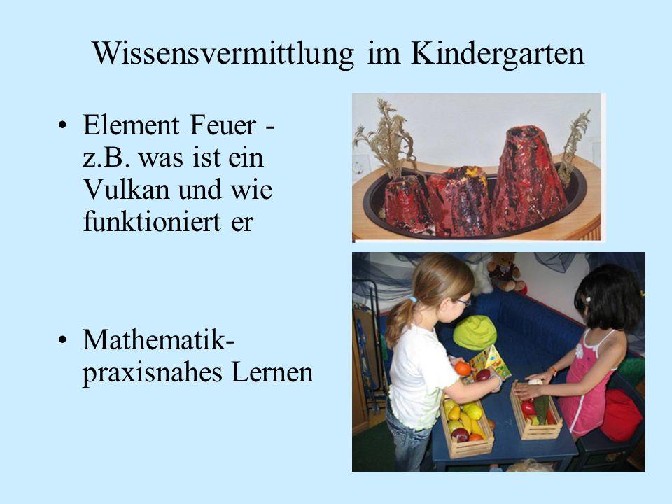Wissensvermittlung im Kindergarten