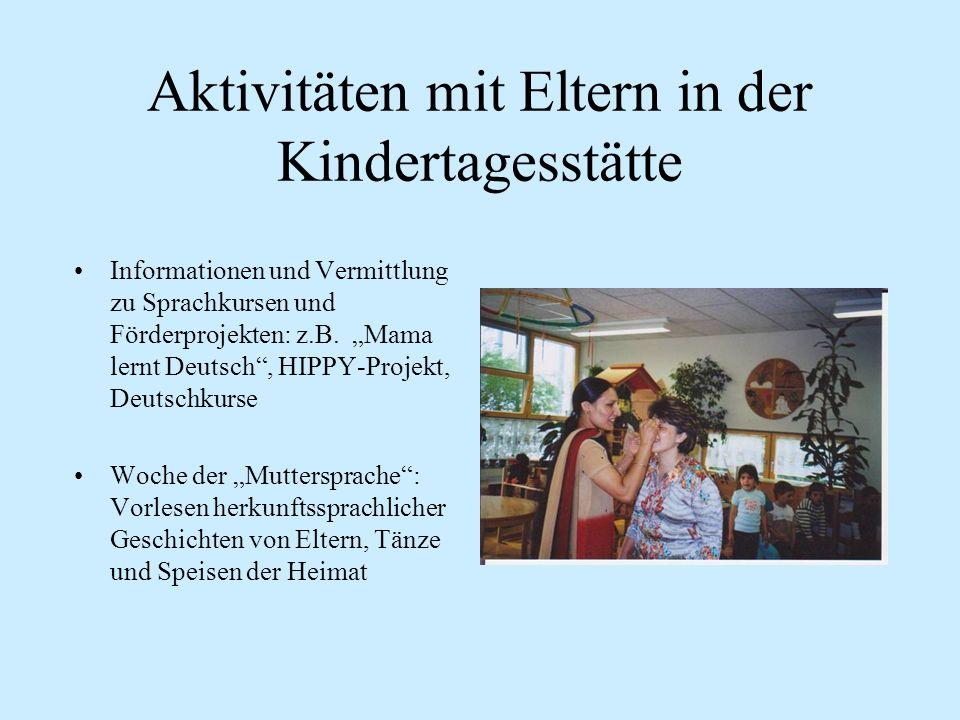 Aktivitäten mit Eltern in der Kindertagesstätte