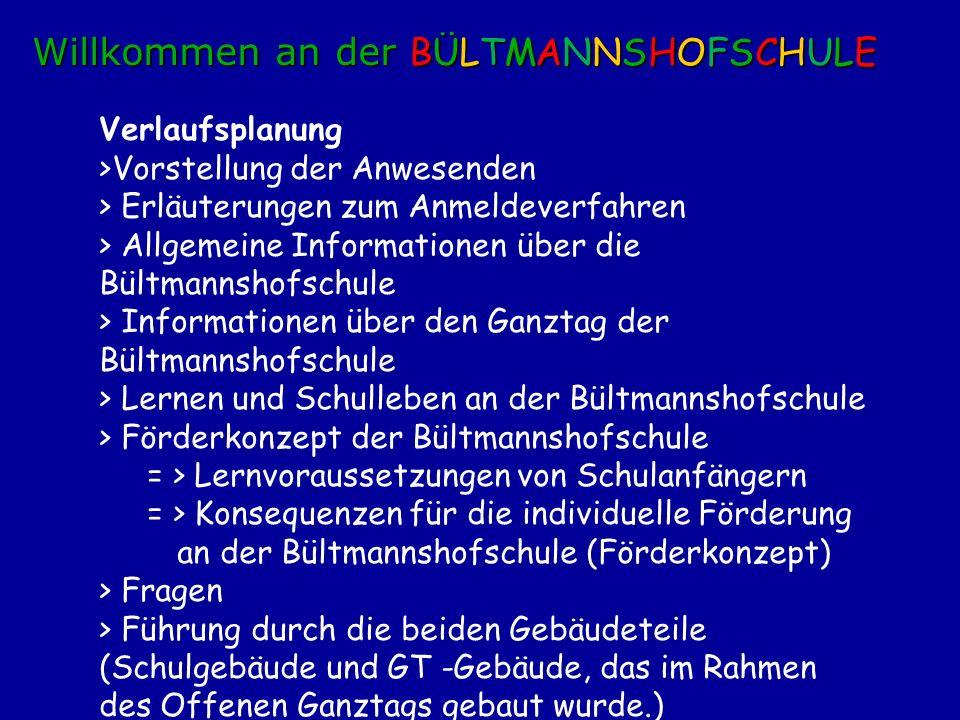 Willkommen an der BÜLTMANNSHOFSCHULE