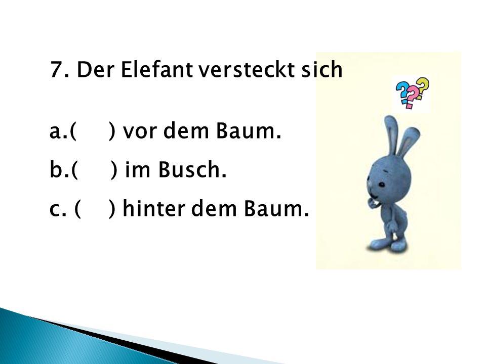 7. Der Elefant versteckt sich