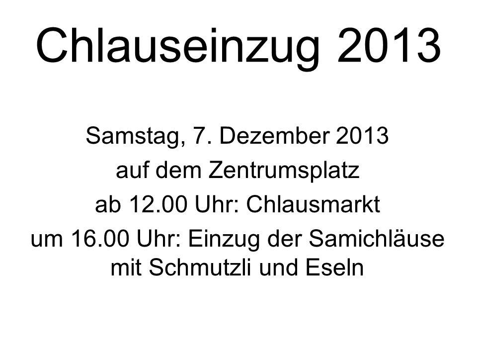 Chlauseinzug 2013