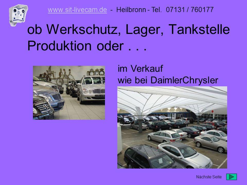 ob Werkschutz, Lager, Tankstelle Produktion oder . . .