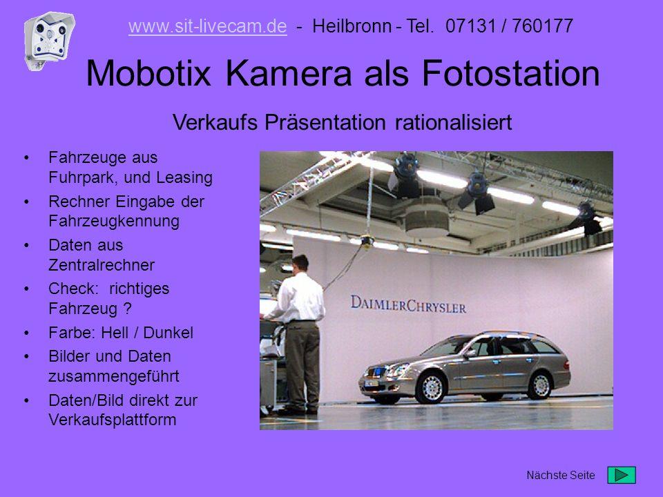 Mobotix Kamera als Fotostation