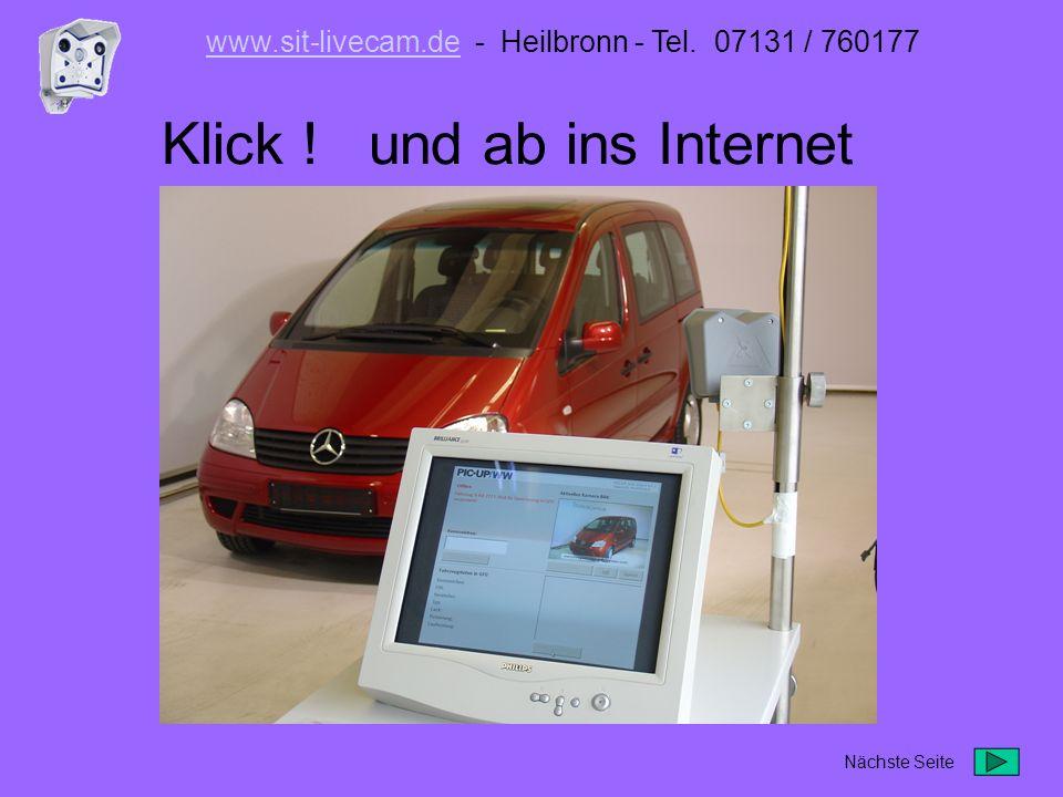 Klick ! und ab ins Internet