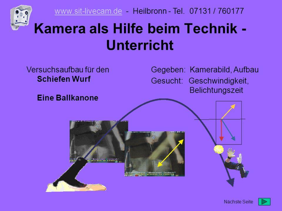 Kamera als Hilfe beim Technik -Unterricht