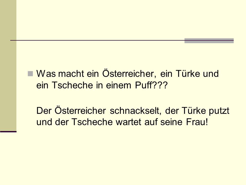 Was macht ein Österreicher, ein Türke und ein Tscheche in einem Puff