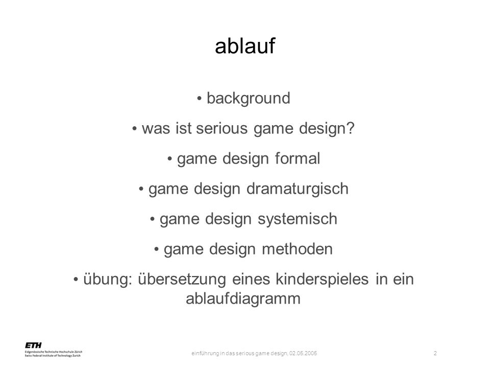 ablauf background was ist serious game design game design formal