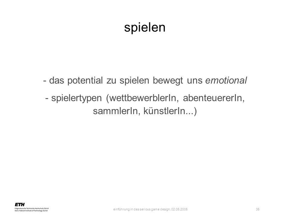 das potential zu spielen bewegt uns emotional