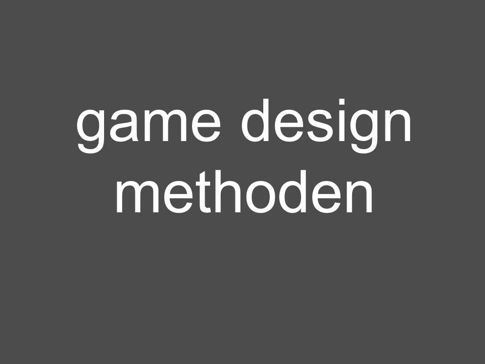 game design methoden