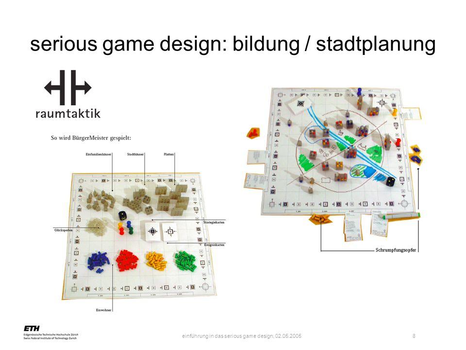serious game design: bildung / stadtplanung
