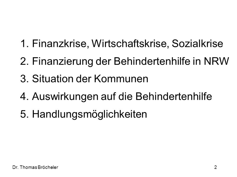 Finanzkrise, Wirtschaftskrise, Sozialkrise