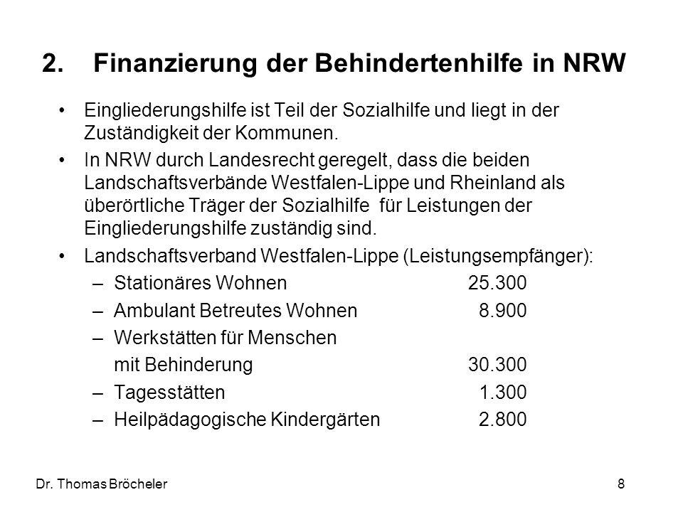 Finanzierung der Behindertenhilfe in NRW