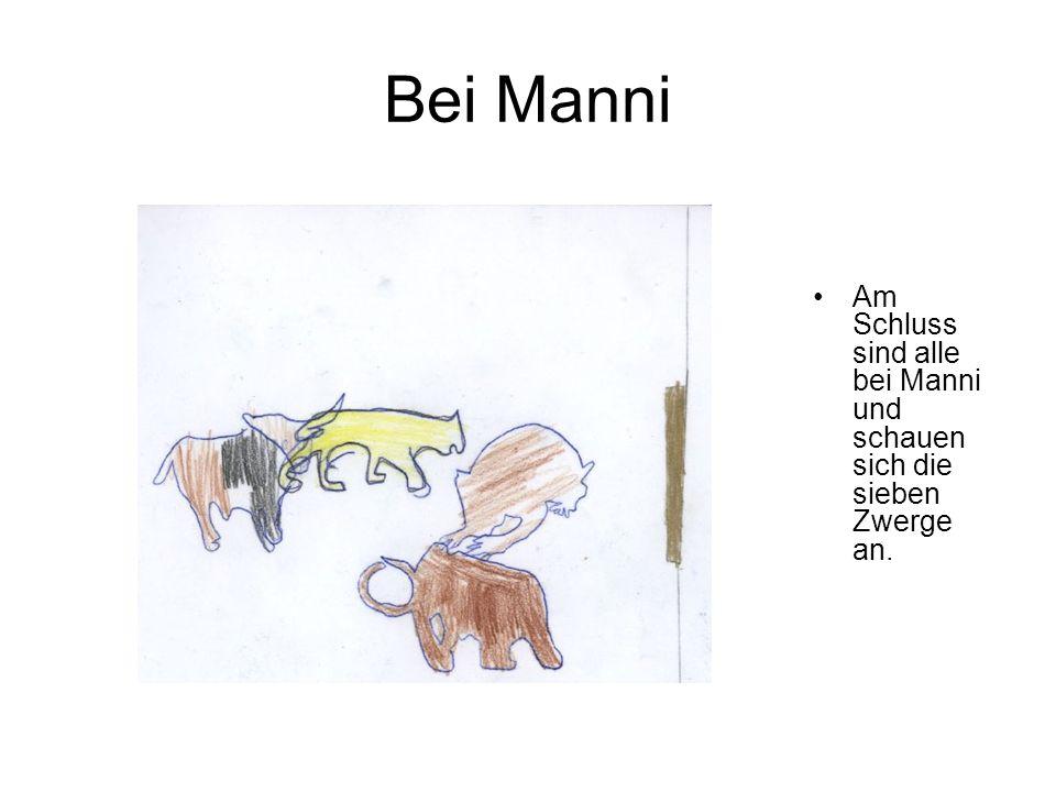 Bei Manni Am Schluss sind alle bei Manni und schauen sich die sieben Zwerge an.