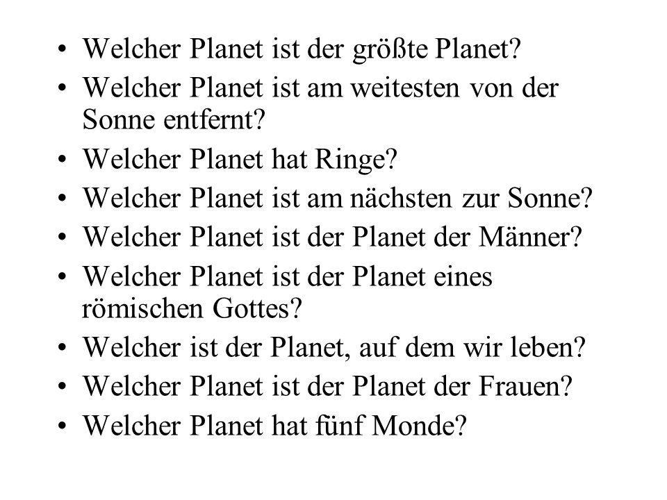 Welcher Planet ist der größte Planet