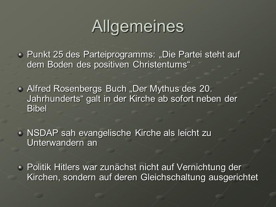 """Allgemeines Punkt 25 des Parteiprogramms: """"Die Partei steht auf dem Boden des positiven Christentums"""