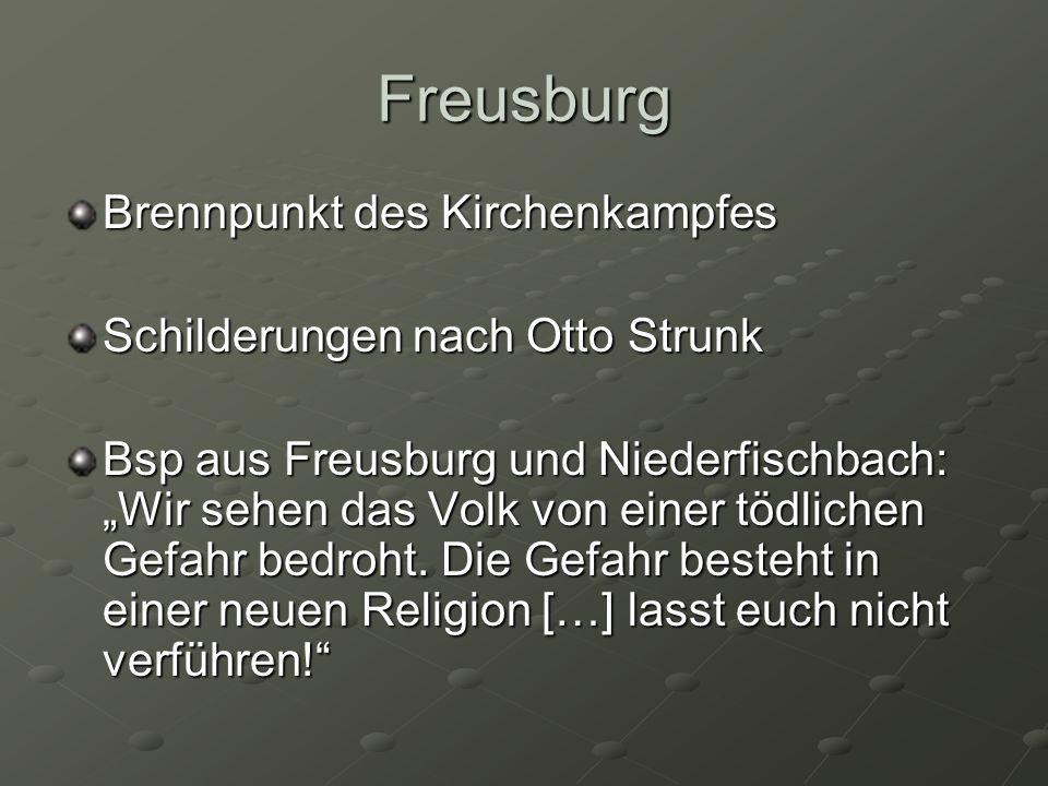 Freusburg Brennpunkt des Kirchenkampfes Schilderungen nach Otto Strunk