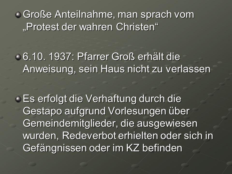 """Große Anteilnahme, man sprach vom """"Protest der wahren Christen"""