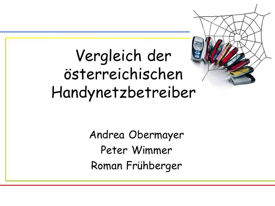 Vergleich der österreichischen Handynetzbetreiber