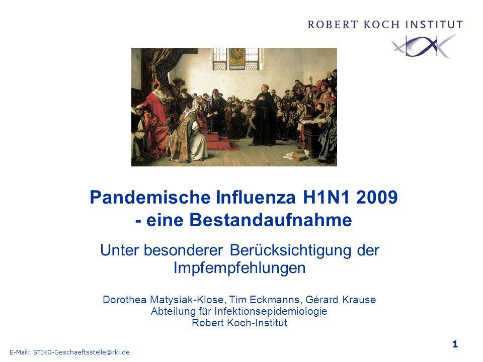 Pandemische Influenza H1N1 2009 - eine Bestandaufnahme