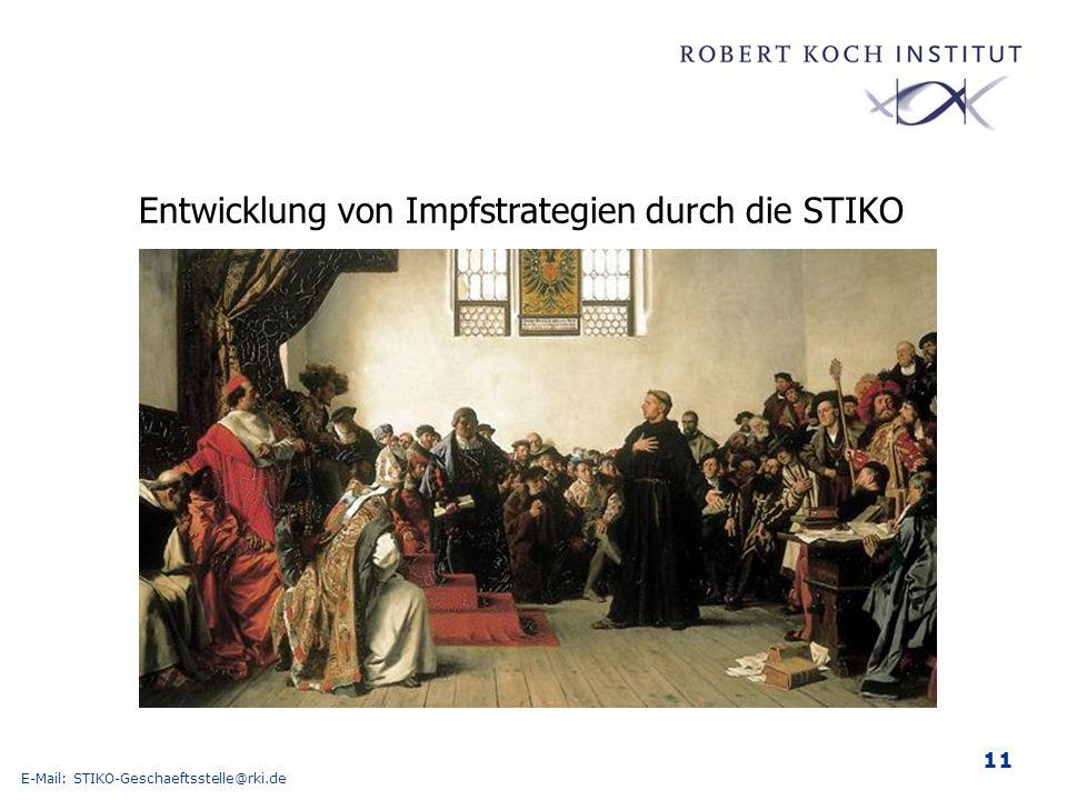 Entwicklung von Impfstrategien durch die STIKO