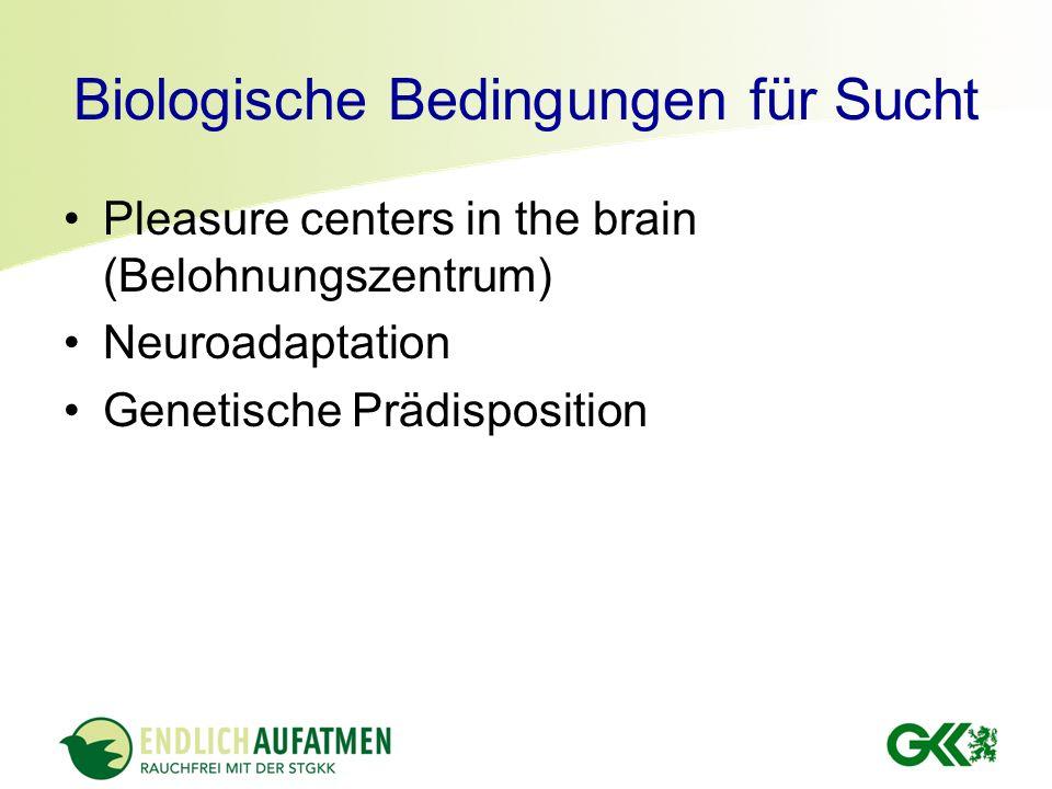 Biologische Bedingungen für Sucht