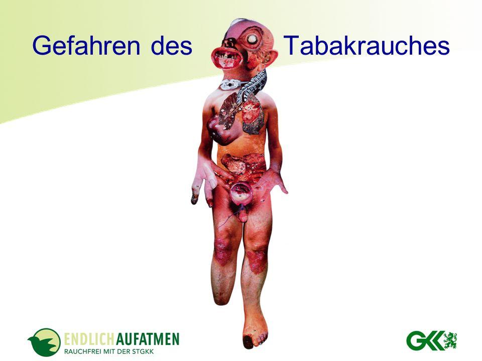Gefahren des Tabakrauches