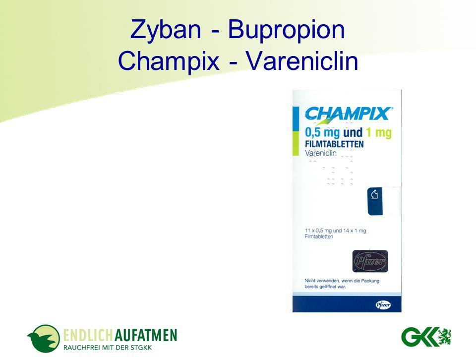 Zyban - Bupropion Champix - Vareniclin