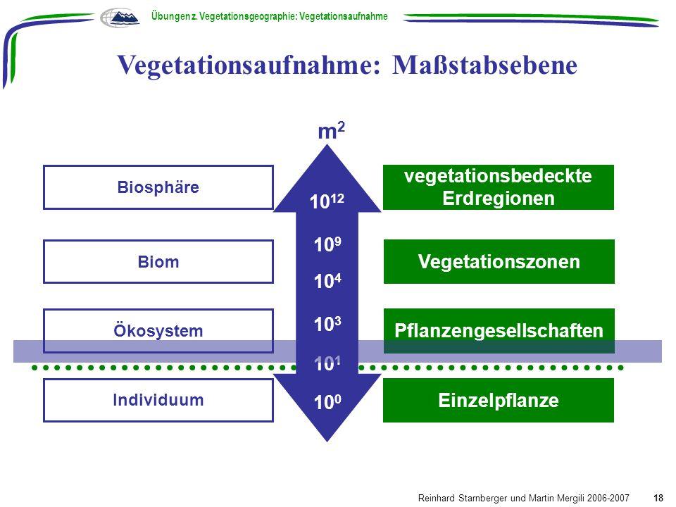 Vegetationsaufnahme: Maßstabsebene
