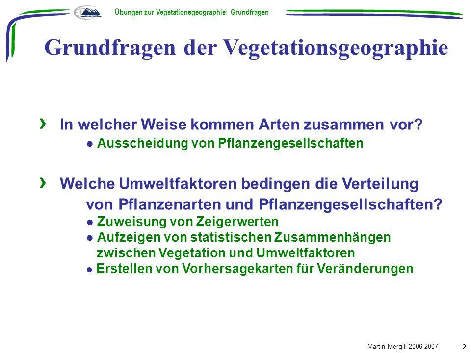 Grundfragen der Vegetationsgeographie