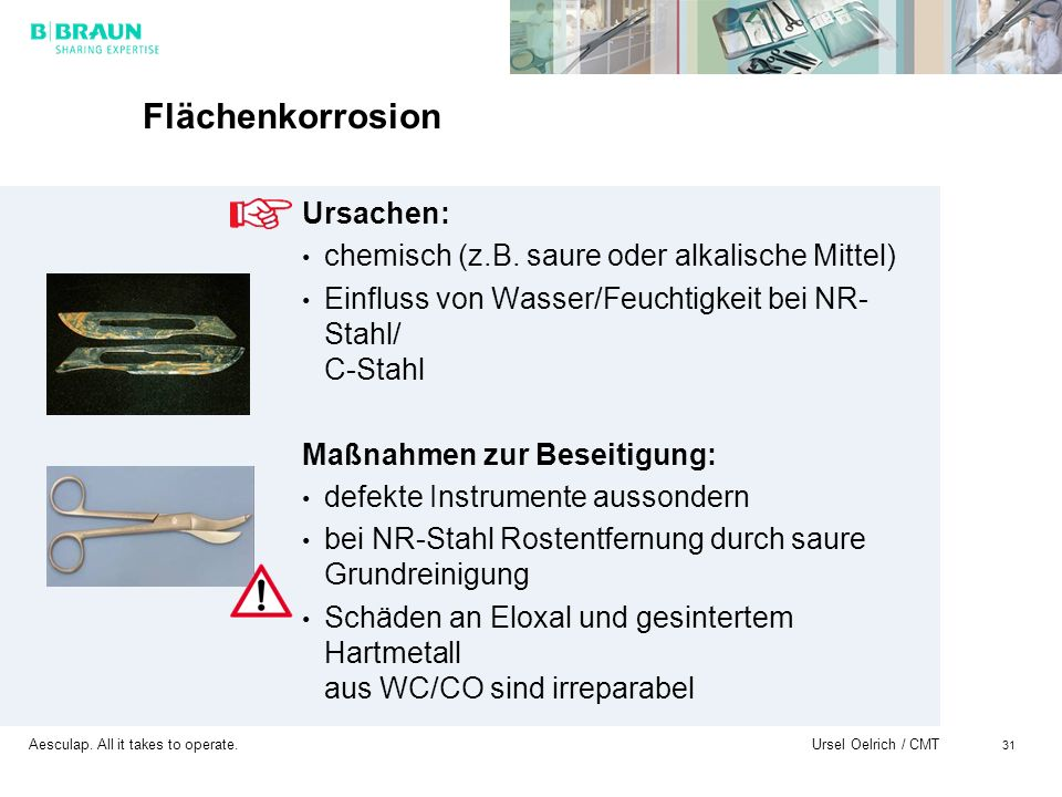 Flächenkorrosion Ursachen: