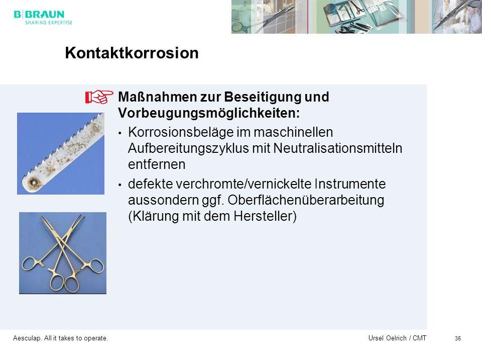 Kontaktkorrosion Maßnahmen zur Beseitigung und Vorbeugungsmöglichkeiten: