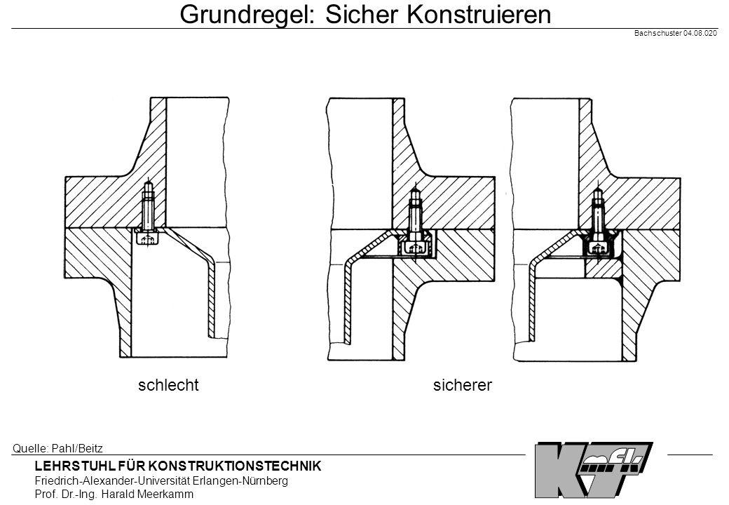 Grundregel: Sicher Konstruieren