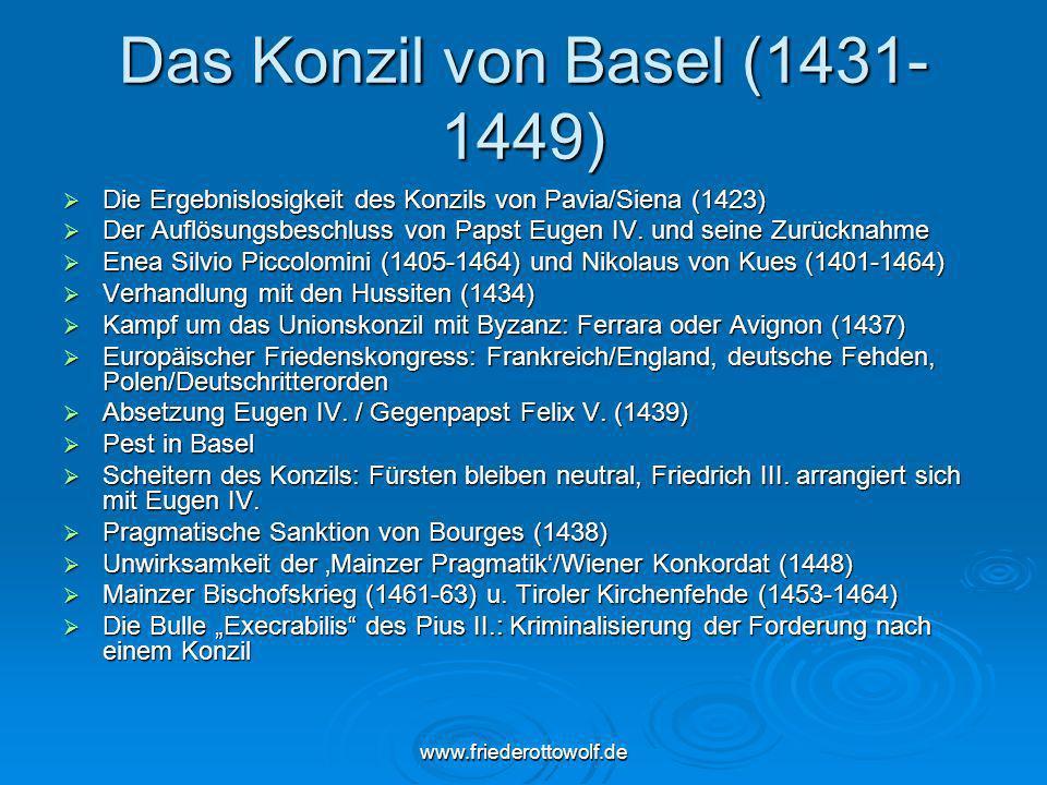 Das Konzil von Basel (1431-1449)