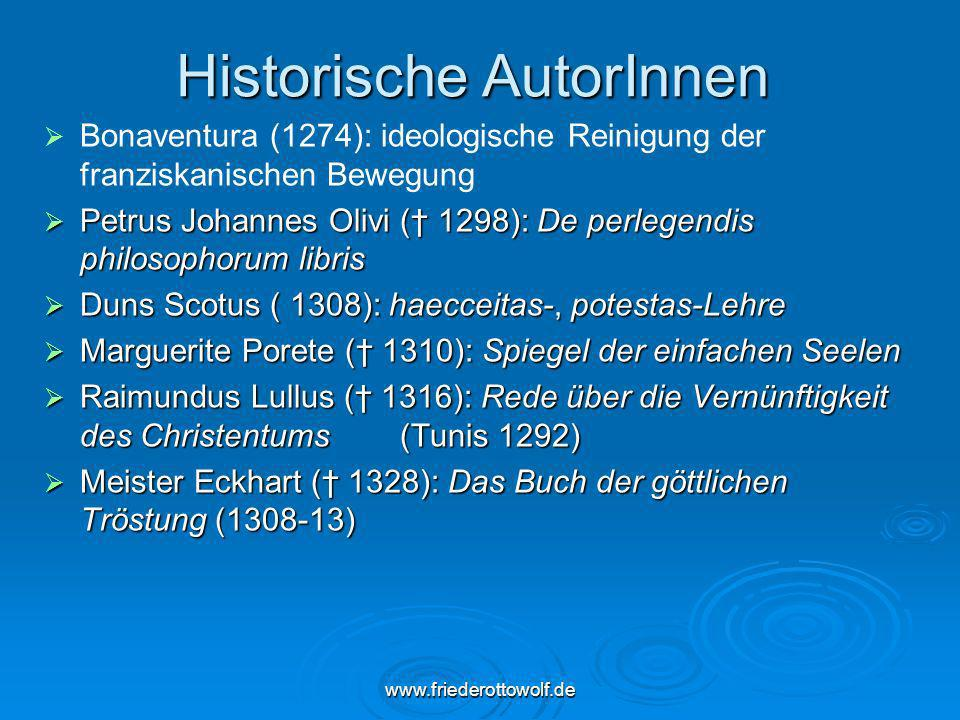 Historische AutorInnen