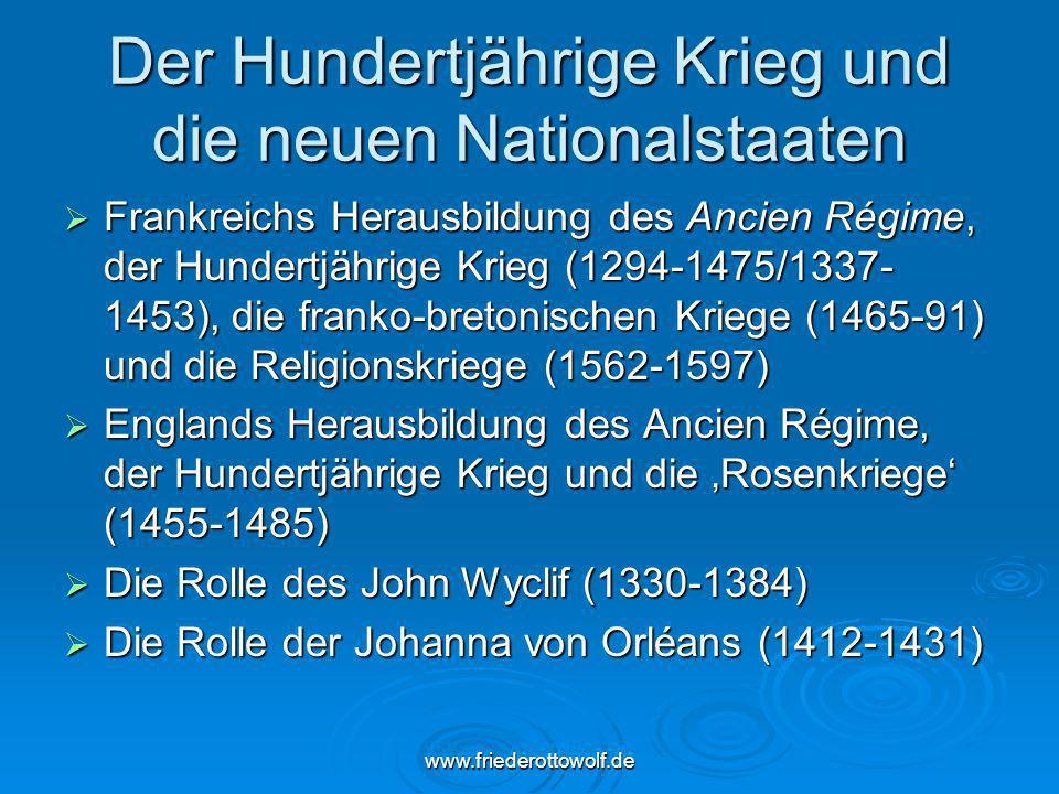 Der Hundertjährige Krieg und die neuen Nationalstaaten
