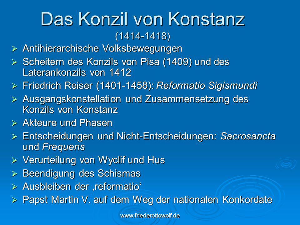 Das Konzil von Konstanz (1414-1418)