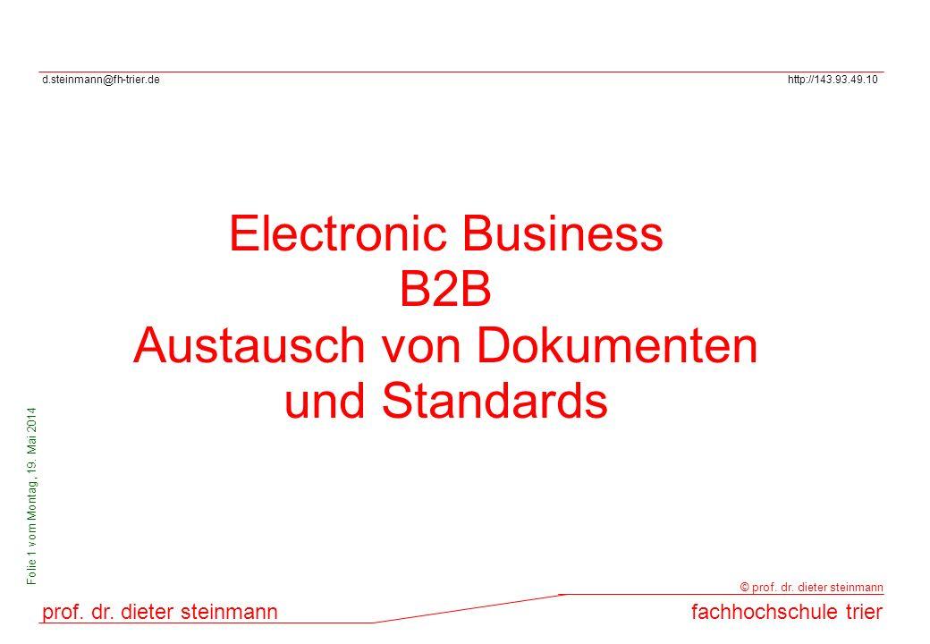 Austausch von Dokumenten und Standards