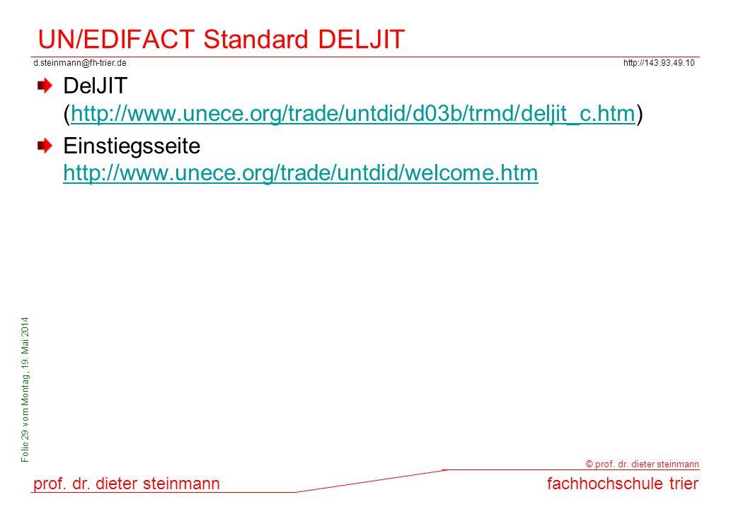 UN/EDIFACT Standard DELJIT