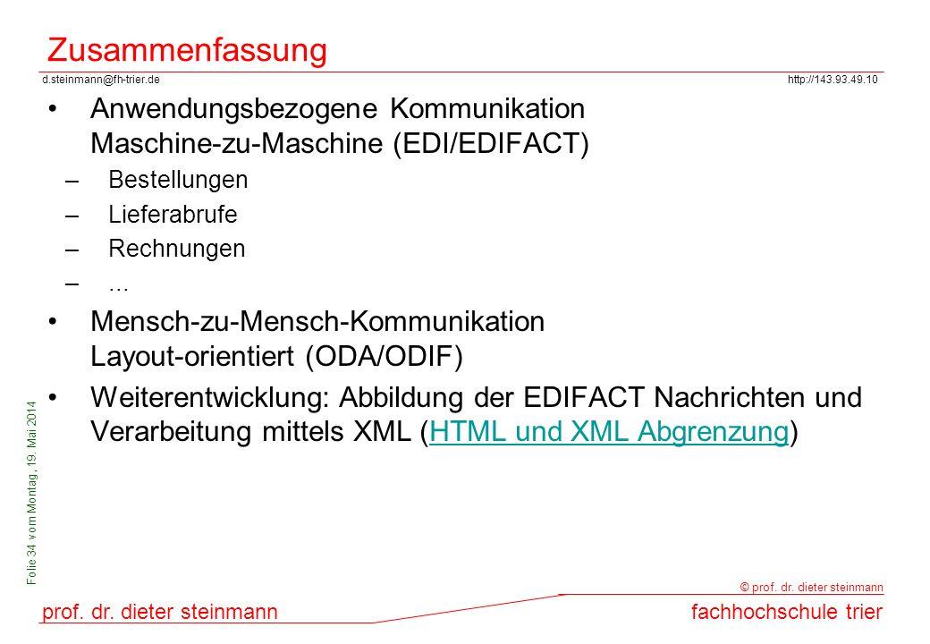 Zusammenfassung Anwendungsbezogene Kommunikation Maschine-zu-Maschine (EDI/EDIFACT) Bestellungen. Lieferabrufe.