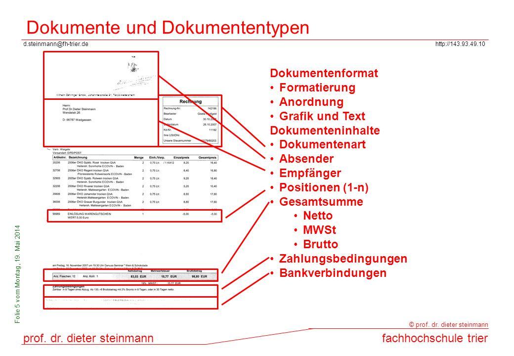 Dokumente und Dokumententypen