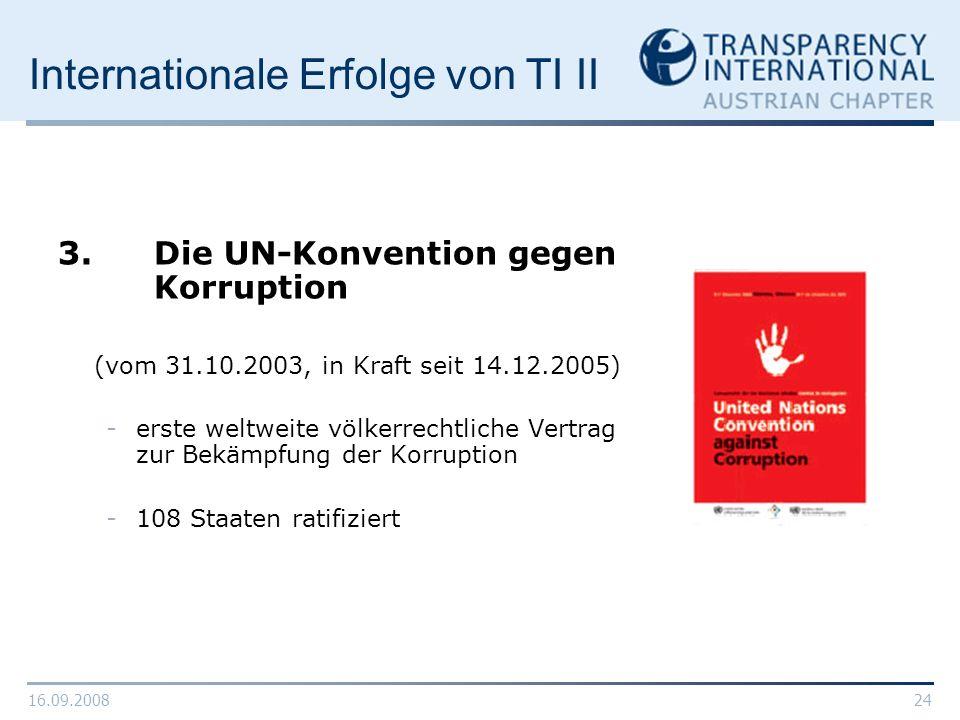 Internationale Erfolge von TI II