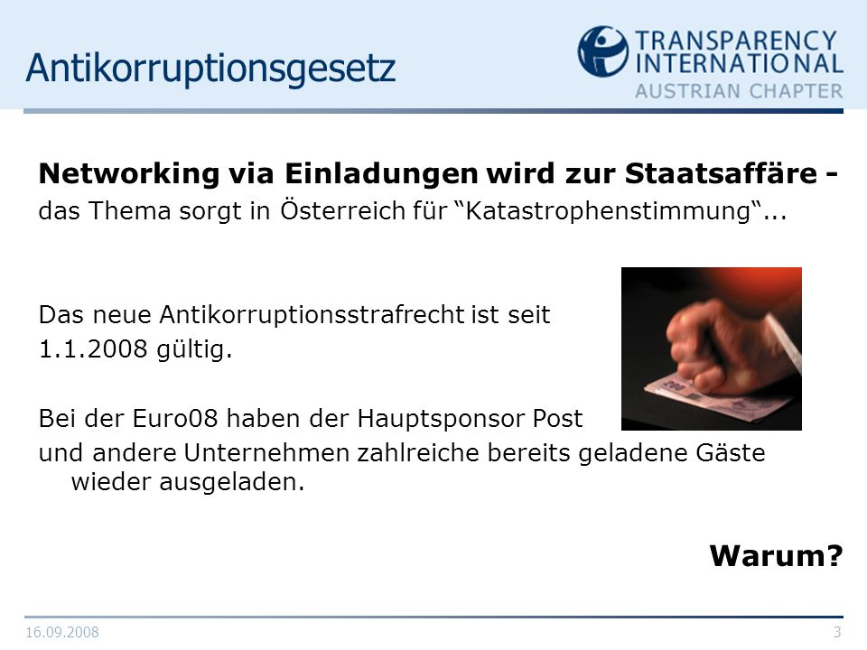 Antikorruptionsgesetz