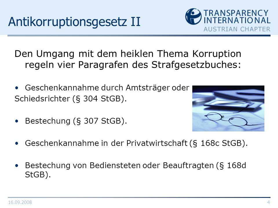 Antikorruptionsgesetz II