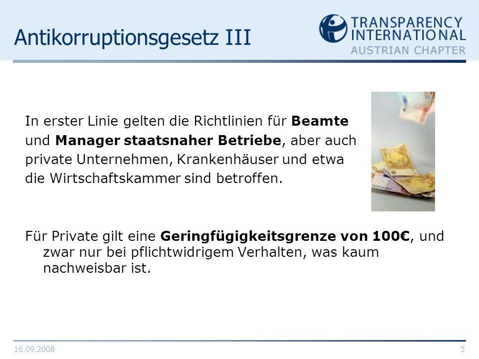 Antikorruptionsgesetz III