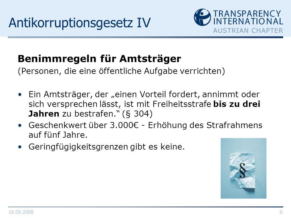 Antikorruptionsgesetz IV