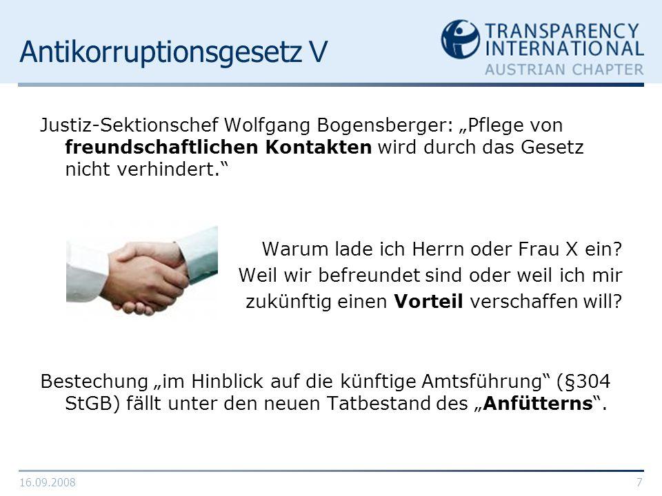 Antikorruptionsgesetz V