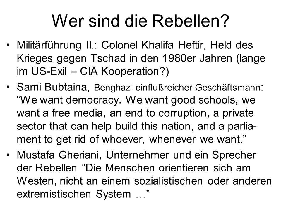 Wer sind die Rebellen