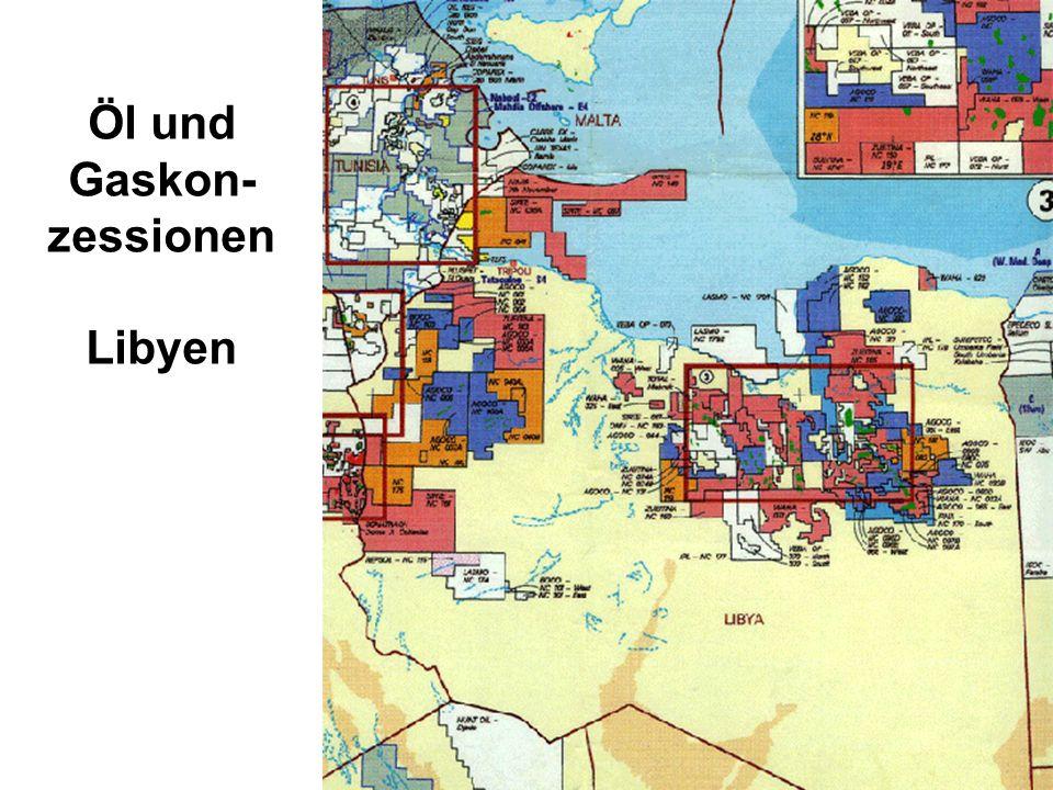 Öl und Gaskon-zessionen Libyen